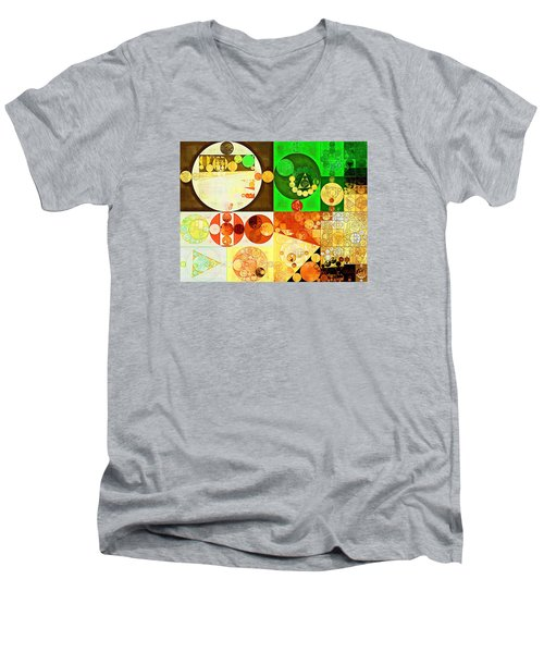 Abstract Painting - Kelly Green Men's V-Neck T-Shirt by Vitaliy Gladkiy