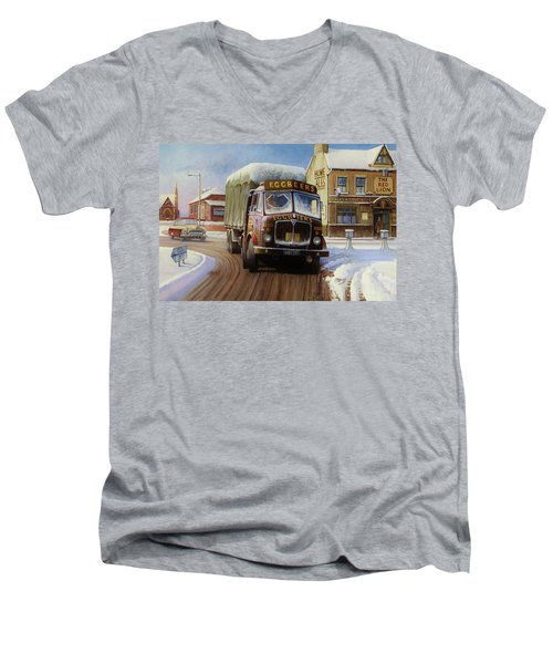 Aec Tinfront Men's V-Neck T-Shirt by Mike  Jeffries