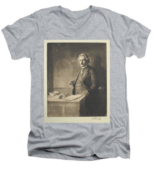 Albert Einstein Men's V-Neck T-Shirt