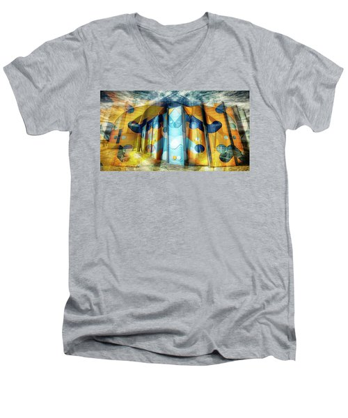 Men's V-Neck T-Shirt featuring the photograph Architectural Abstract by Wayne Sherriff