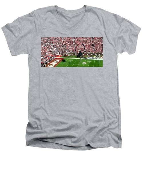 Army Rangers Drop In On Gameday Men's V-Neck T-Shirt