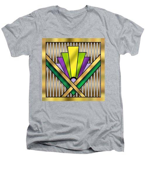 Art Deco 14 Transparent Men's V-Neck T-Shirt