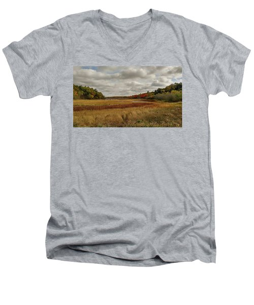 Autumn  Men's V-Neck T-Shirt by Jewels Blake Hamrick