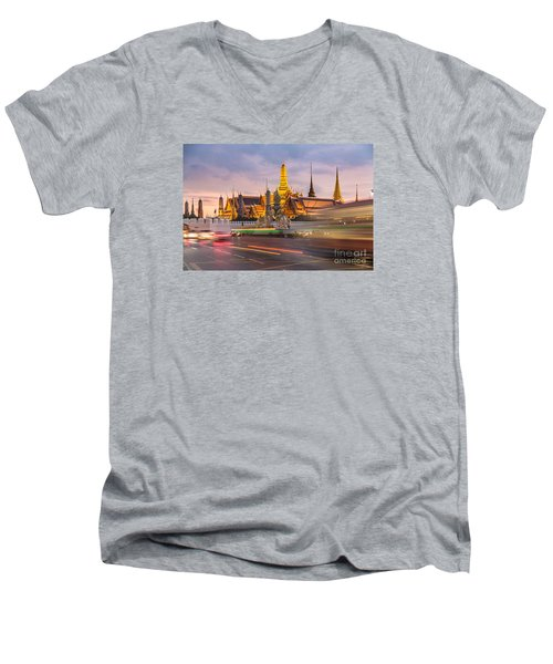 Bangkok Wat Phra Keaw Men's V-Neck T-Shirt