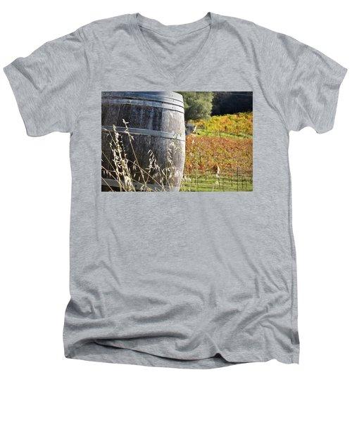 Barrel In The Vineyard Men's V-Neck T-Shirt