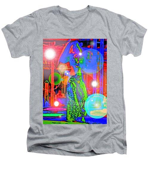 Belly Dance Men's V-Neck T-Shirt by Andy Za