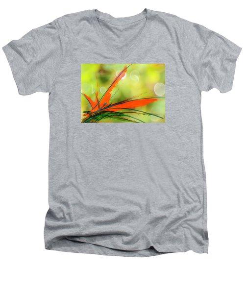 Bird Of Paradise 2 Men's V-Neck T-Shirt by Kume Bryant