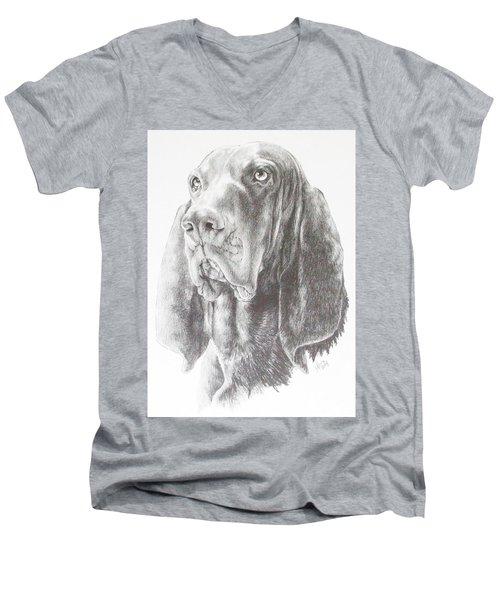 Black And Tan Coonhound Men's V-Neck T-Shirt