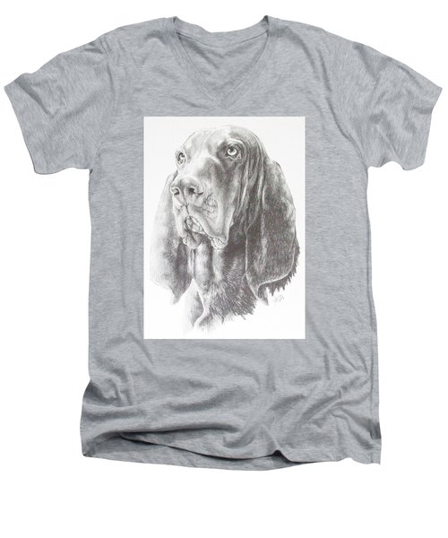 Black And Tan Coonhound Men's V-Neck T-Shirt