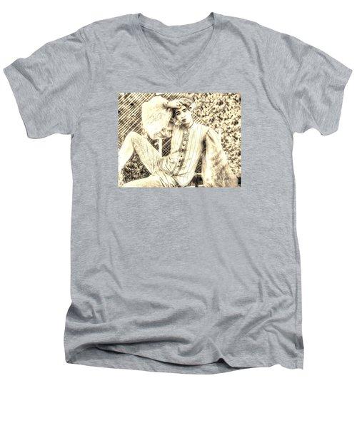 BOY Men's V-Neck T-Shirt by Yury Bashkin