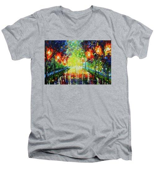Bright Path Men's V-Neck T-Shirt