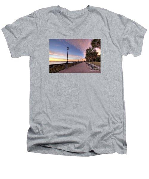 Charleston Waterfront Park Sunrise  Men's V-Neck T-Shirt