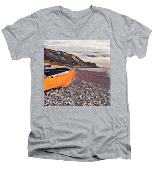 Chesil Beach Men's V-Neck T-Shirt