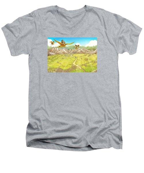Chiricahua Mountains Men's V-Neck T-Shirt by Reynold Jay