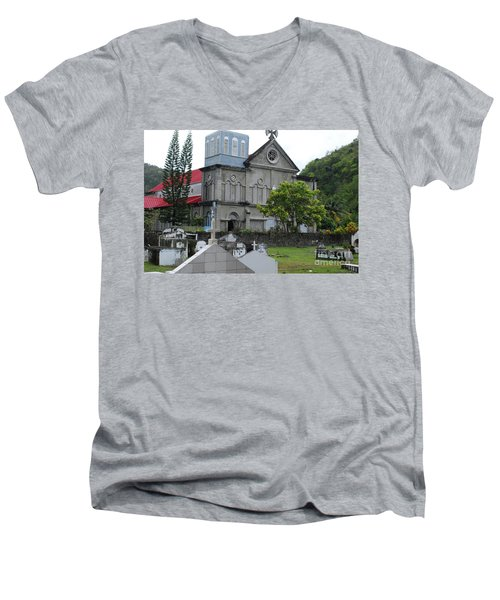 Men's V-Neck T-Shirt featuring the photograph Church by Gary Wonning