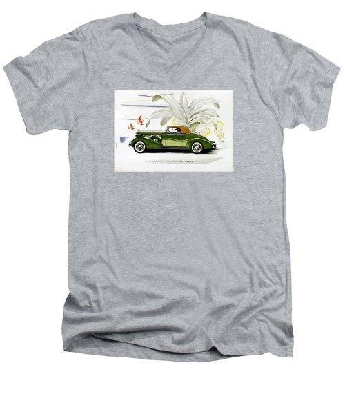 Men's V-Neck T-Shirt featuring the photograph Classic Cars by Allen Beilschmidt