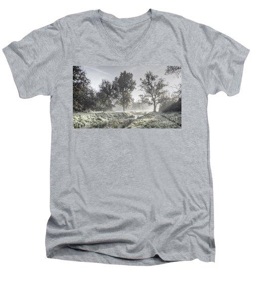 Colorful Autumn Landscape Men's V-Neck T-Shirt