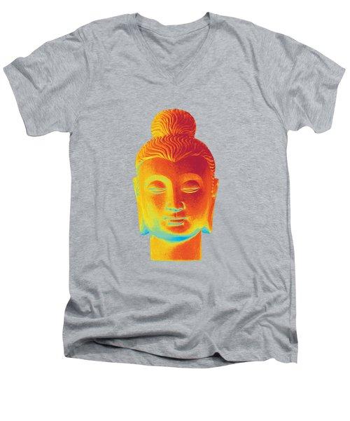 colorful Buddha - Gandhara Men's V-Neck T-Shirt by Terrell Kaucher