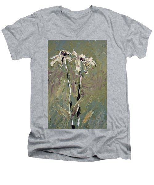 Cone Flowers Men's V-Neck T-Shirt by Jim Vance