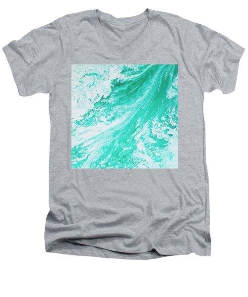 Crystal Wave 5 Men's V-Neck T-Shirt