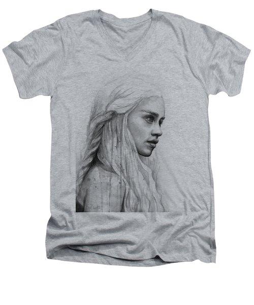 Daenerys Watercolor Portrait Men's V-Neck T-Shirt
