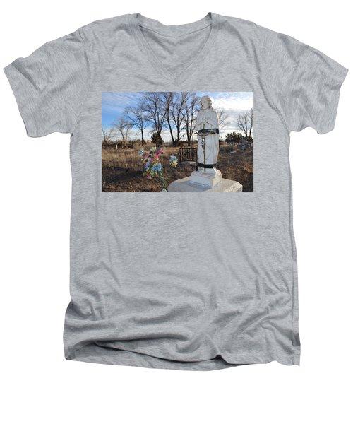 Electrical Tape Jesus Men's V-Neck T-Shirt