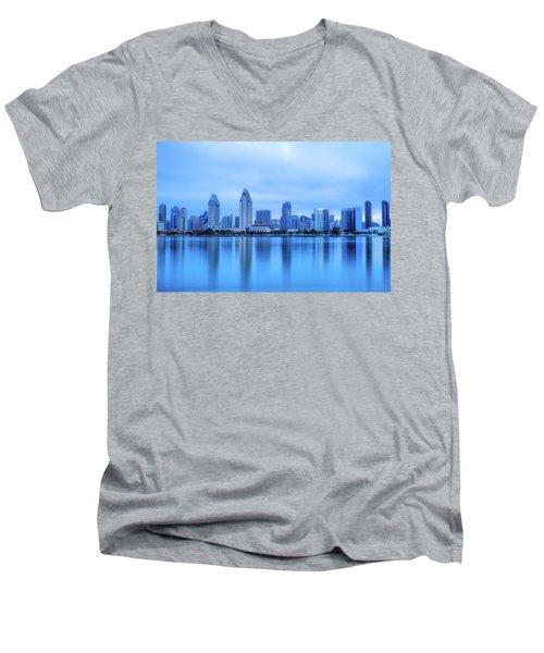 Feeling Blue Men's V-Neck T-Shirt by Joseph S Giacalone