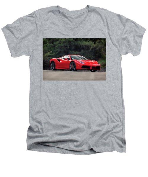 #ferrari #488gtb Men's V-Neck T-Shirt
