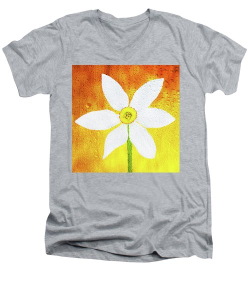 Men's V-Neck T-Shirt featuring the photograph Flower Paradise by Bess Hamiti