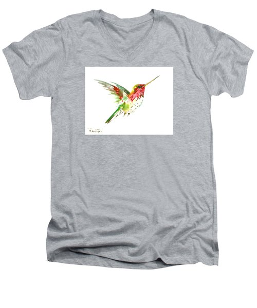 Flying Hummingbird Men's V-Neck T-Shirt