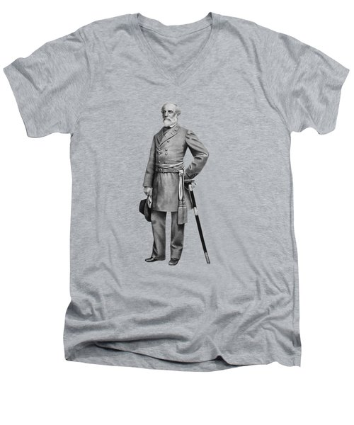 General Robert E. Lee Men's V-Neck T-Shirt by War Is Hell Store