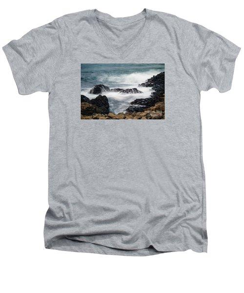 Giants Causeway Men's V-Neck T-Shirt by Juergen Klust