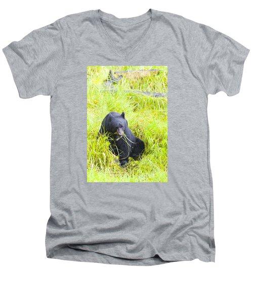 Got The Munchies Men's V-Neck T-Shirt by Harold Piskiel