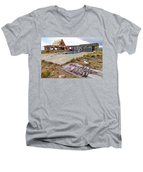 2 Guns Koa Men's V-Neck T-Shirt