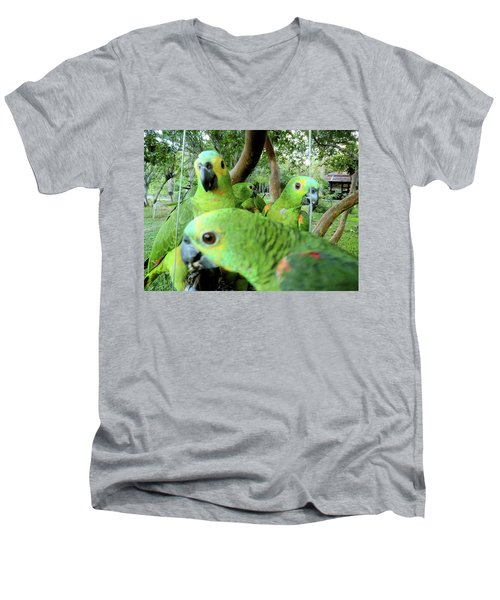 Men's V-Neck T-Shirt featuring the photograph Happy Hour by Beto Machado