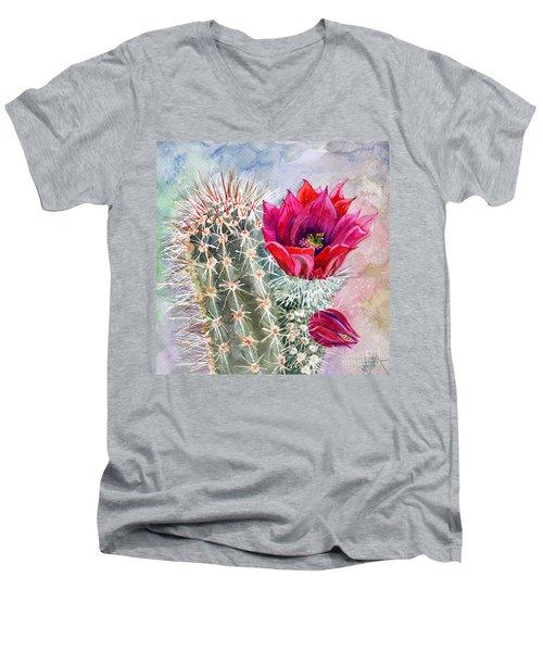Hedgehog Cactus Men's V-Neck T-Shirt