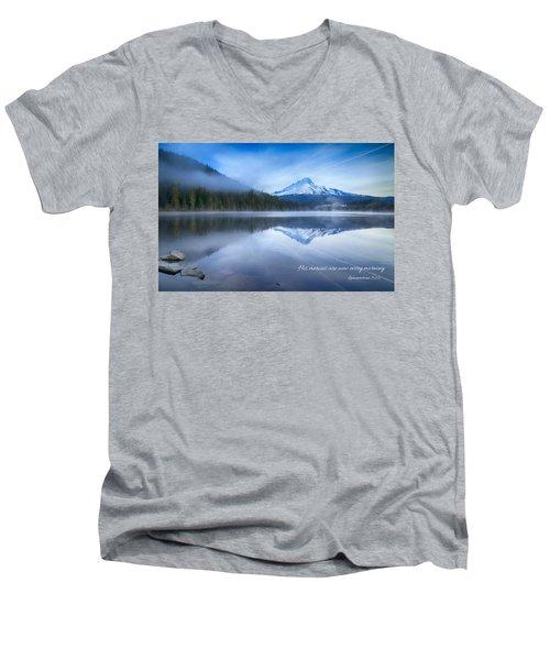 His Mercies Men's V-Neck T-Shirt by Lynn Hopwood