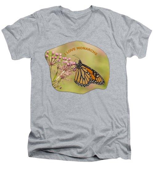 I Love Monarchs Men's V-Neck T-Shirt