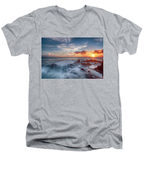 Into The Mystic Men's V-Neck T-Shirt by James Roemmling