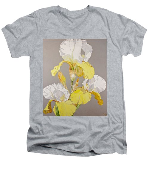 Irises-posthumously Presented Paintings Of Sachi Spohn  Men's V-Neck T-Shirt