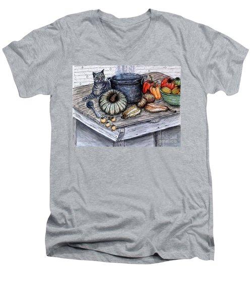 Just Curious Men's V-Neck T-Shirt