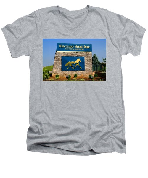 Kentucky Horse Park Men's V-Neck T-Shirt