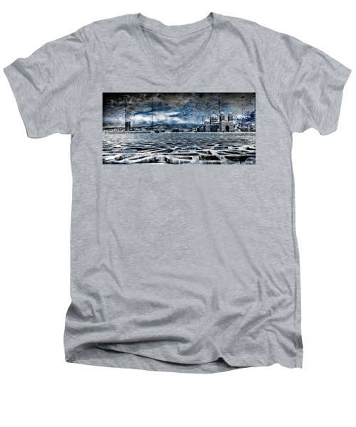 La Major Vue Des Dentelles Du Mucem Men's V-Neck T-Shirt