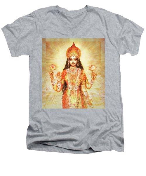 Lakshmi The Goddess Of Fortune And Abundance Men's V-Neck T-Shirt