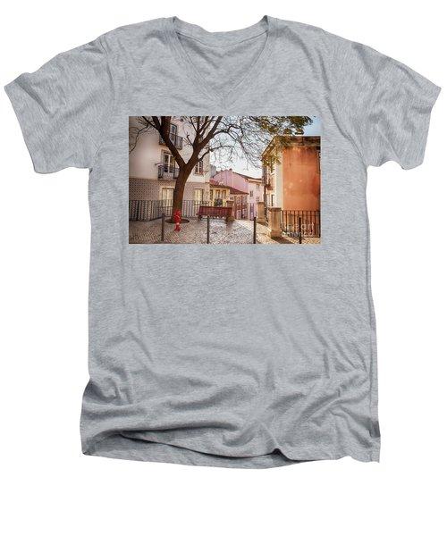 Lisbon's City Street Men's V-Neck T-Shirt