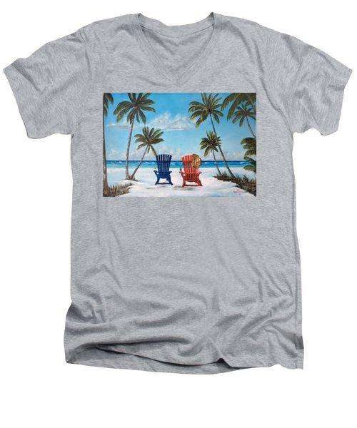 Living The Dream Men's V-Neck T-Shirt by Lloyd Dobson