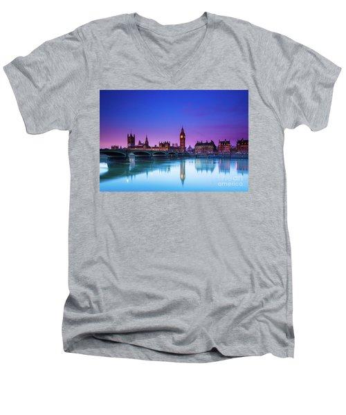 London Big Ben  Men's V-Neck T-Shirt