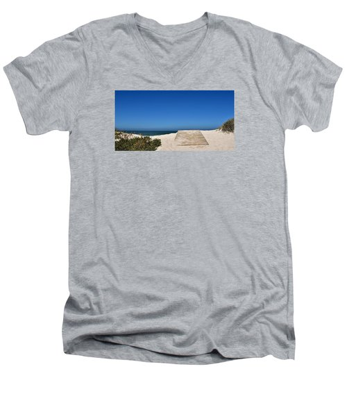 Men's V-Neck T-Shirt featuring the photograph long awaited View by Werner Lehmann