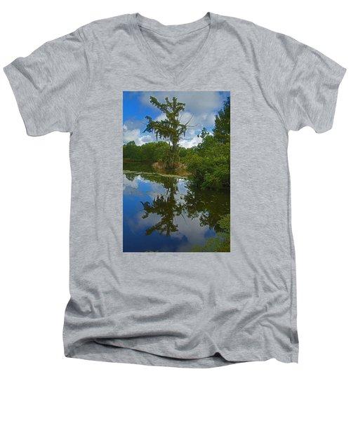 Louisiana  Bald Cypress Tree Men's V-Neck T-Shirt