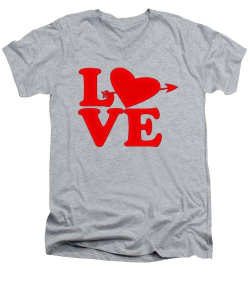 Love Men's V-Neck T-Shirt by Bill Cannon